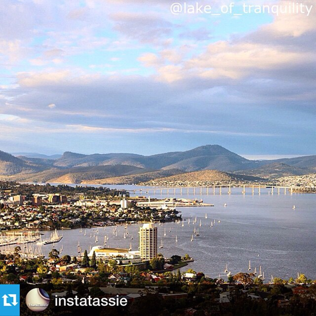 My beautiful city!#Repost from @instatassie with @repostapp.・・・Wow! Hobart as viewed from the suburb of Sandy Bay by @lake_of_tranquility.