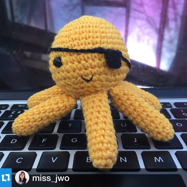 I love these little creatures from @totallyhookedtoys!  #Repost @miss_jwo with @repostapp.・・・New office friend just arrived :)