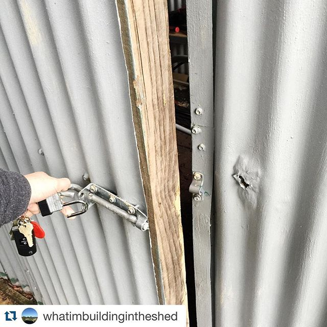 """You should totally follow this Instagram account for clues on what I'm building in the shed 😉  #Repost @whatimbuildingintheshed with @repostapp. ・・・ """"I'll tell you one thing he's not building a playhouse for the children"""""""