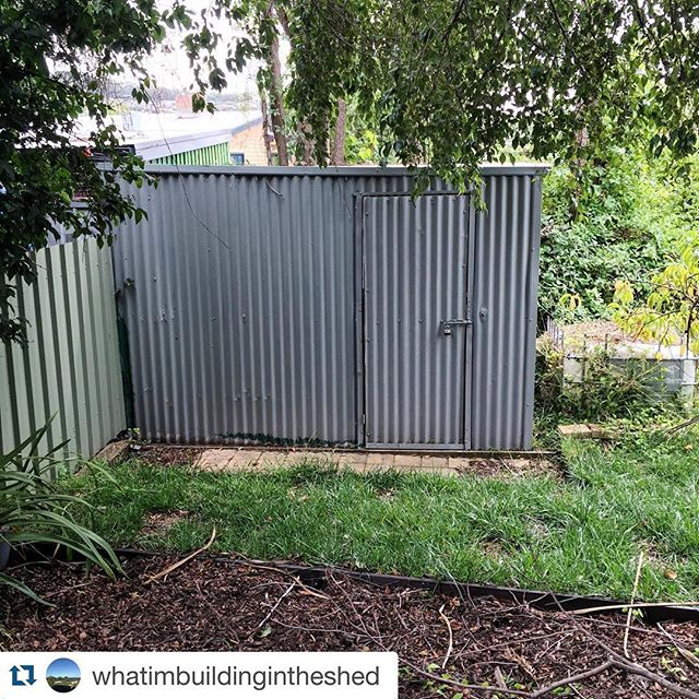 I'm building a present for my wife in our shed. More importantly, I'm trying to get her to join Instagram. If you know her, please follow this account too:  #Repost @whatimbuildingintheshed with @repostapp. ・・・ This is the shed where something is being built!